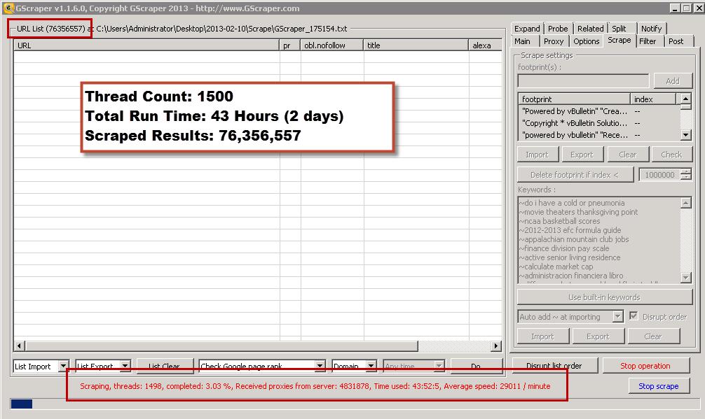 GScraper - Fastest Scrape, Check, Filter, POST, Expand