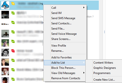 adding contact to your list